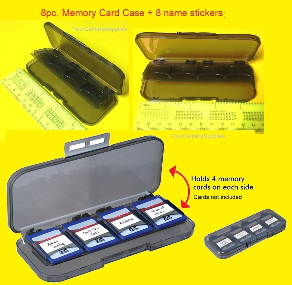 PC MEMORY CARD CASE HOLDER STORAGE For 8 SD SDHC MEMORY CARDS