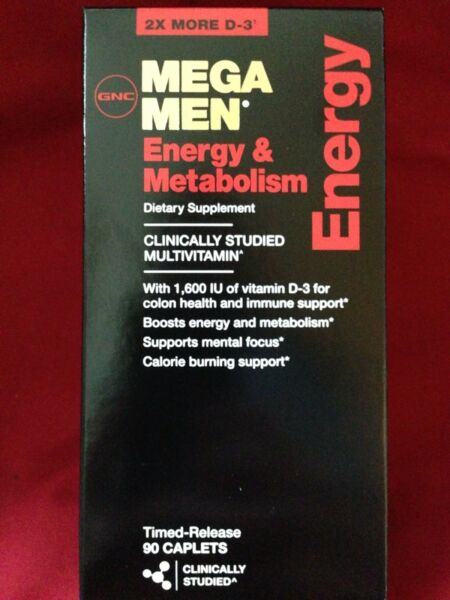 GNC Mega Men Energy and Metabolism 90 Caps - Time-release Multivitamin