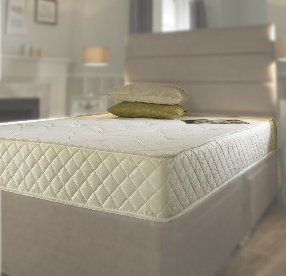 Memory Foam Matress New Quilted Sprung Mattress 3ft Single 4ft6 Double 5ft King Ebay