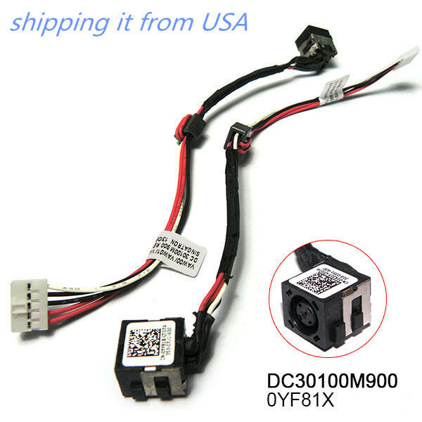new dc power jack harness in cable for dell inspiron 11 3147 3000 new laptop dc power jack harness wi