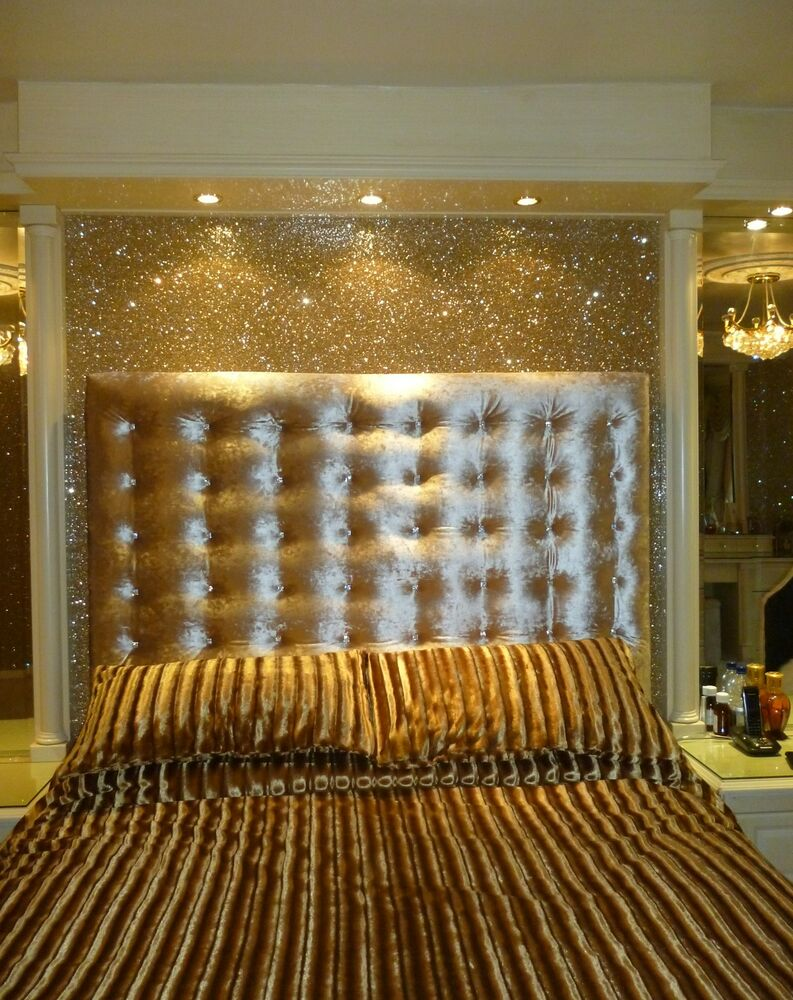 Glitter wallpaper chunky flake fabric backed pale gold for Gold wall paint uk