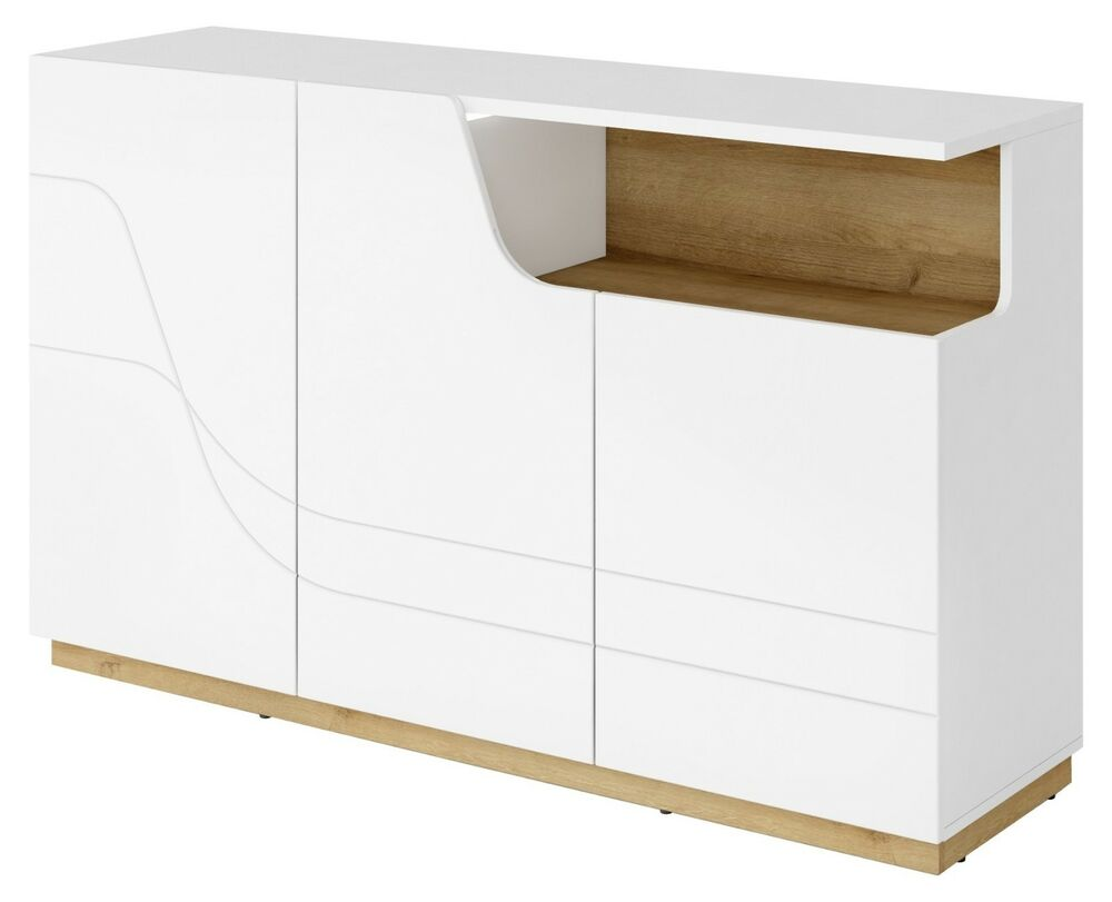 kommode sideboard wave mit beleuchtung ebay. Black Bedroom Furniture Sets. Home Design Ideas