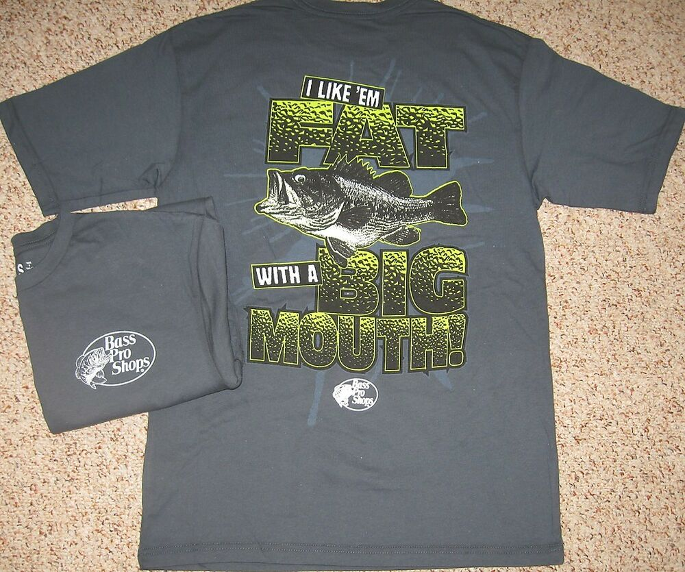 I like 39 em fat with a big mouth men s fishing humor t for Bass fishing shirt