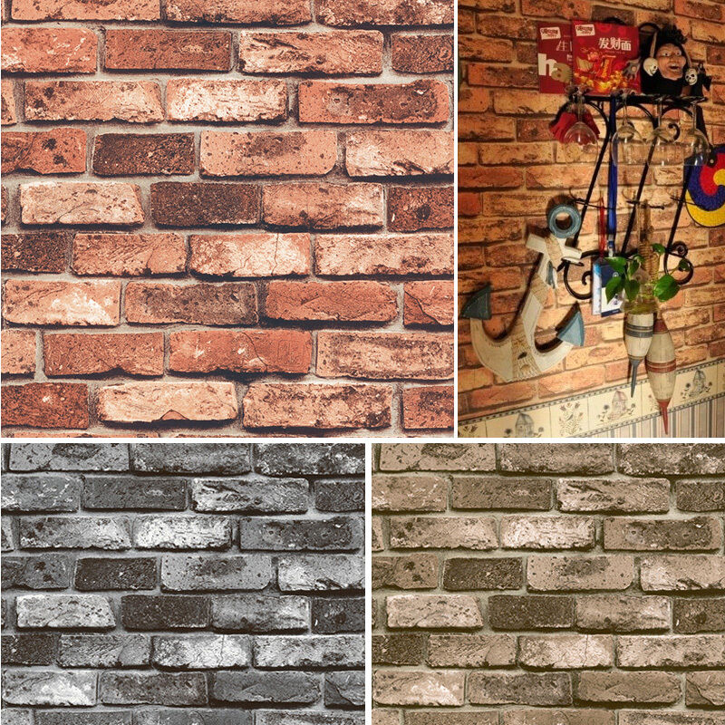 brick wallpaper country house - photo #7