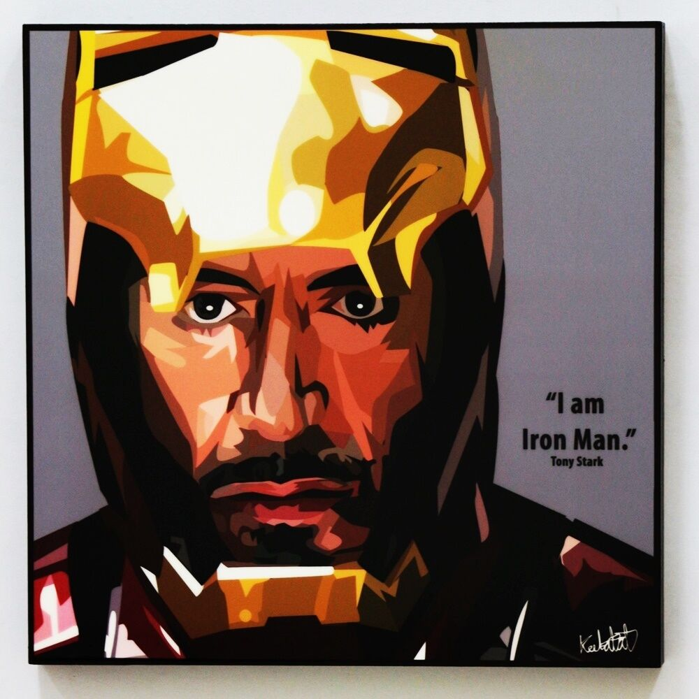 Wall Decals Pop Art : Tony stark iron man canvas quotes wall decals photo