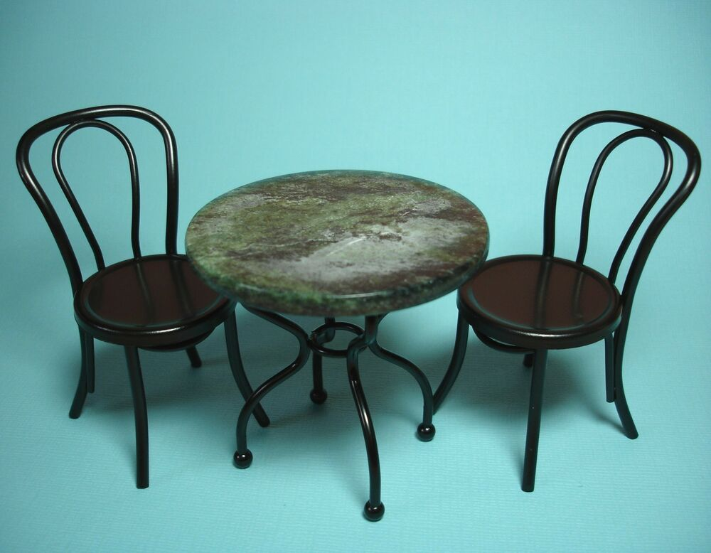 Dollhouse miniature victorian marble top 3 piece table doll house furniture ebay - Marble tops for furniture ...