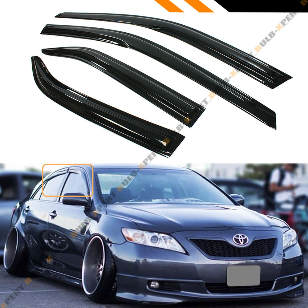 smoked window visor vent shade for 2007 2011 toyota camry le se