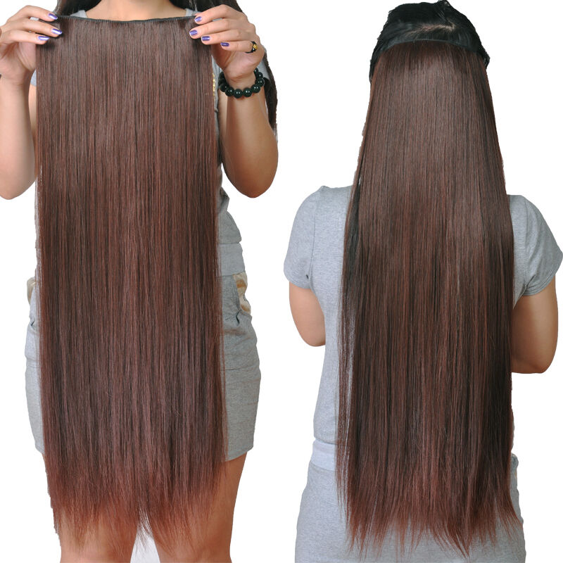 one piece clip in hair extensions real human hair