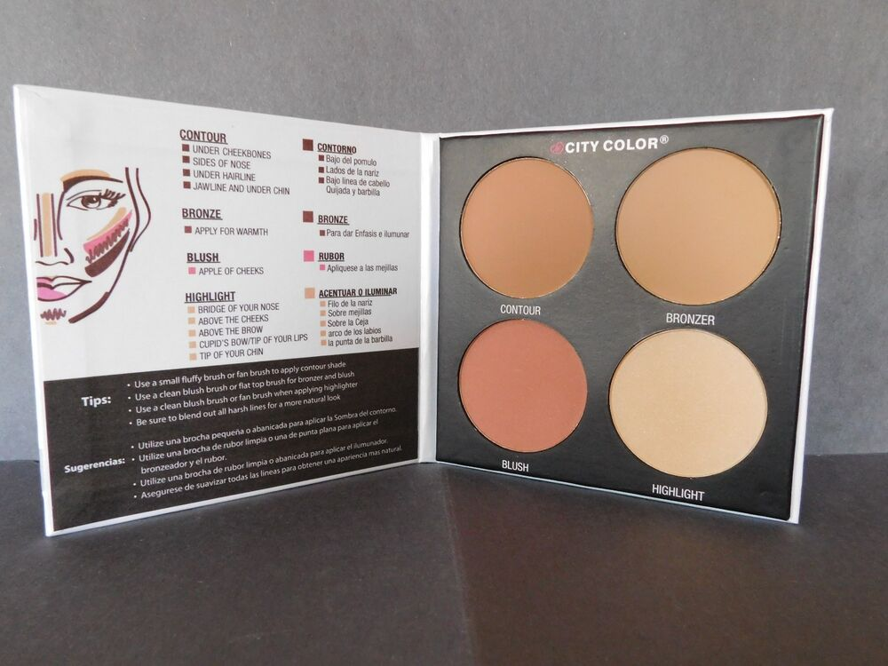 city color contour u define palette blush bronzer highlight colors ebay