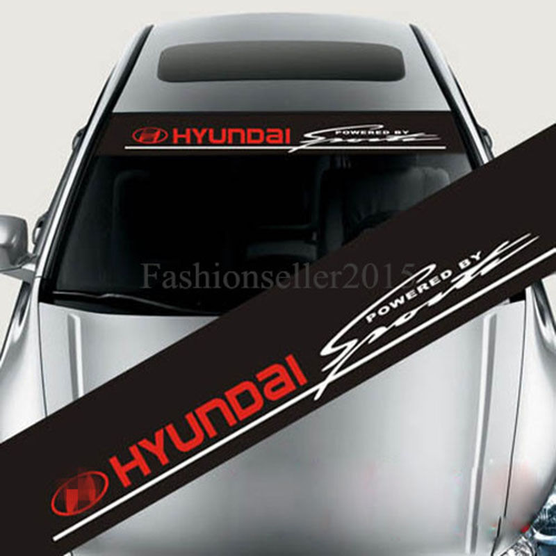 Reflect Front Windshield Decal Car Stickers For Hyundai