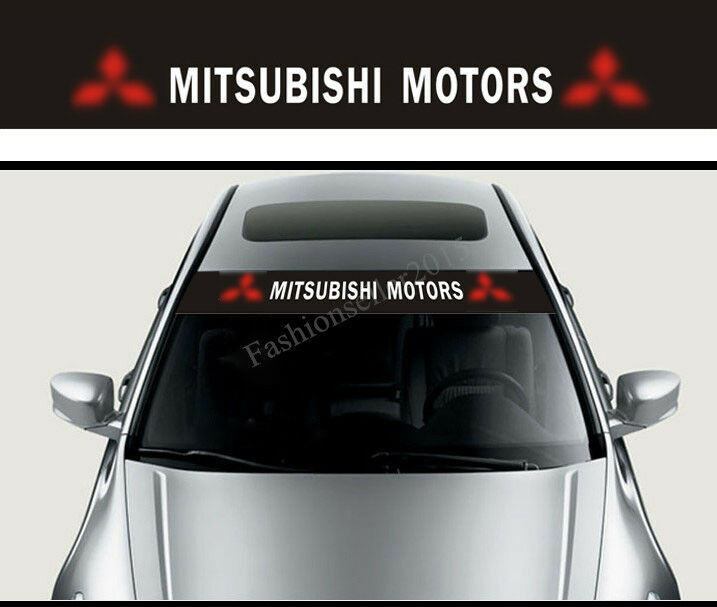 Front Windshield Decal Vinyl Car Stickers For Mitsubishi