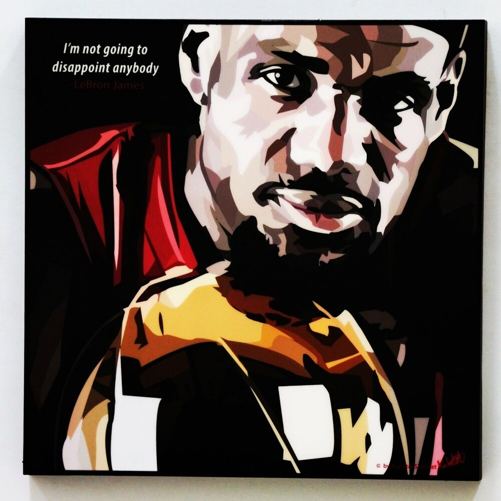 Lebron James Canvas Quotes Wall Decals Photo Painting Framed Pop Art