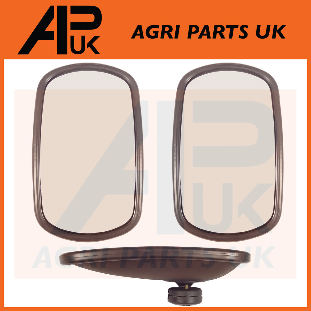 Mirror For Tractor : Pair of universal wing mirror head glass quot