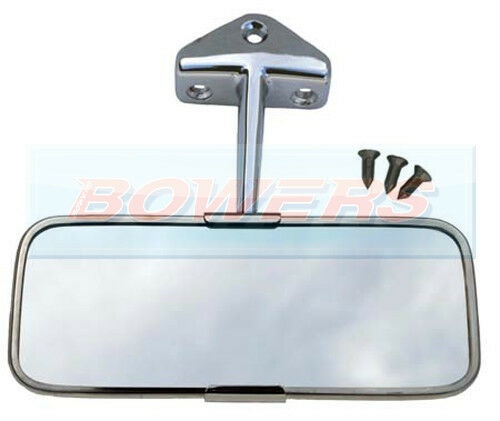classic austin mini stainless steel chrome interior rear view mirror ebay. Black Bedroom Furniture Sets. Home Design Ideas