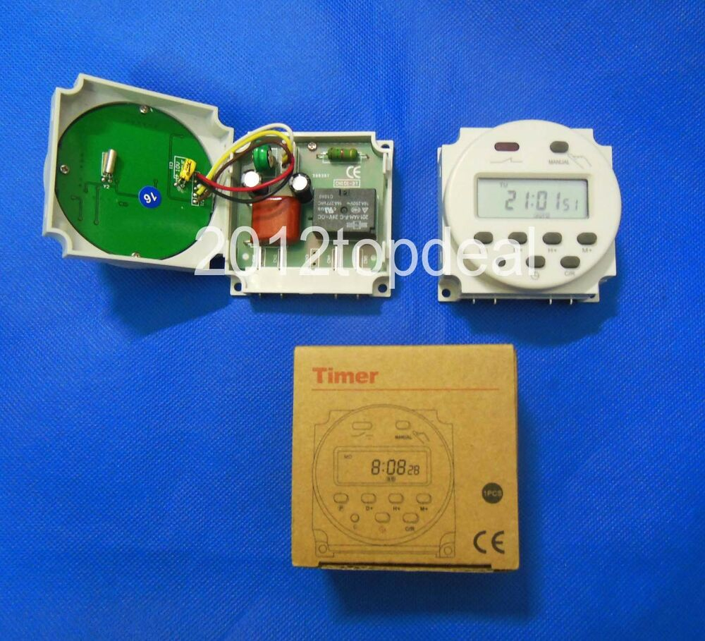 Digital Power Switch : Dc v digital lcd power programmable timer time switch