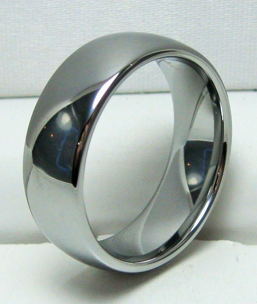 domed cobalt chrome wedding band comfort fit ring size 12 ebay