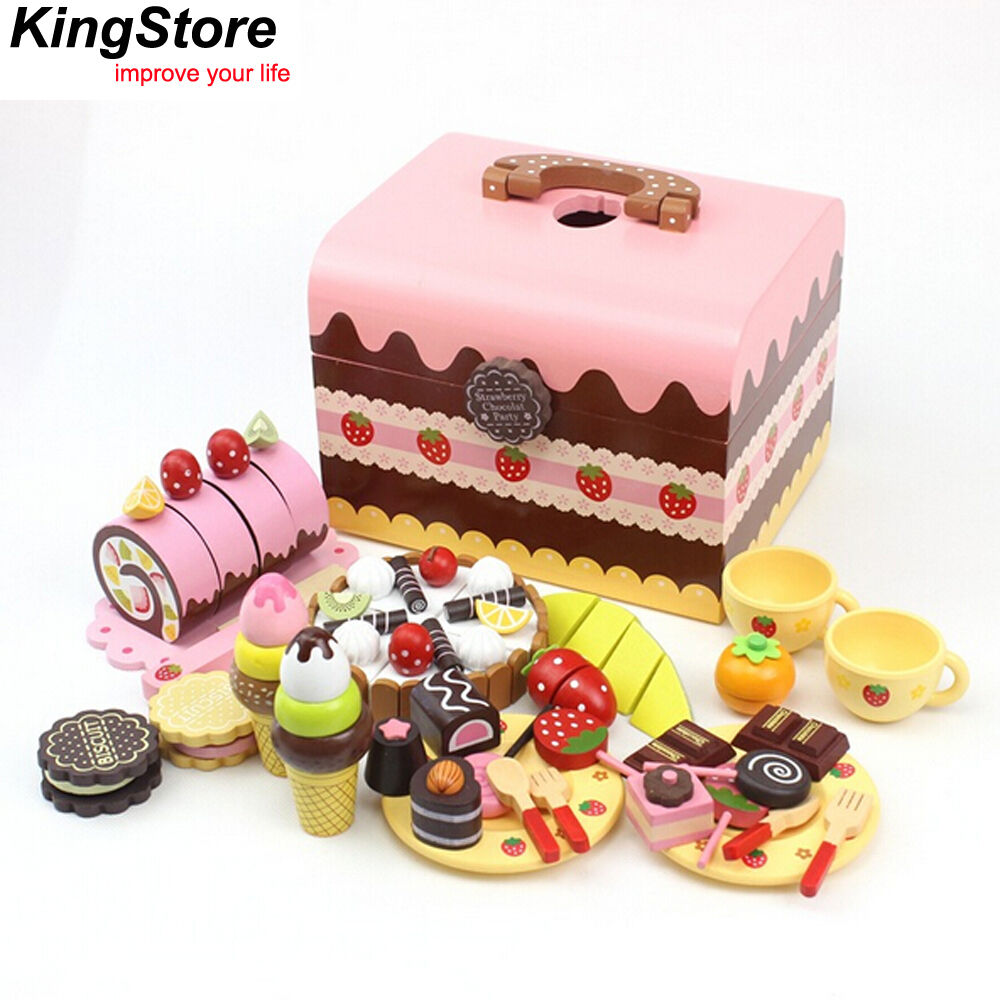 Mother garden afternoon tea chocolate cake pretend role for Kitchen set cake