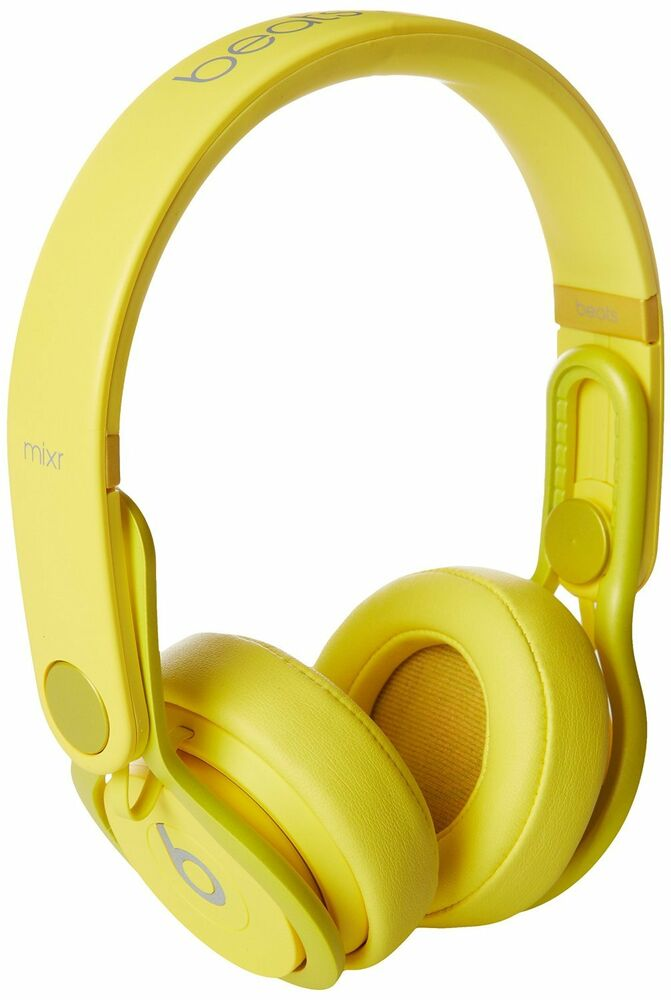 new beats mixr onear headphone colr yellow color