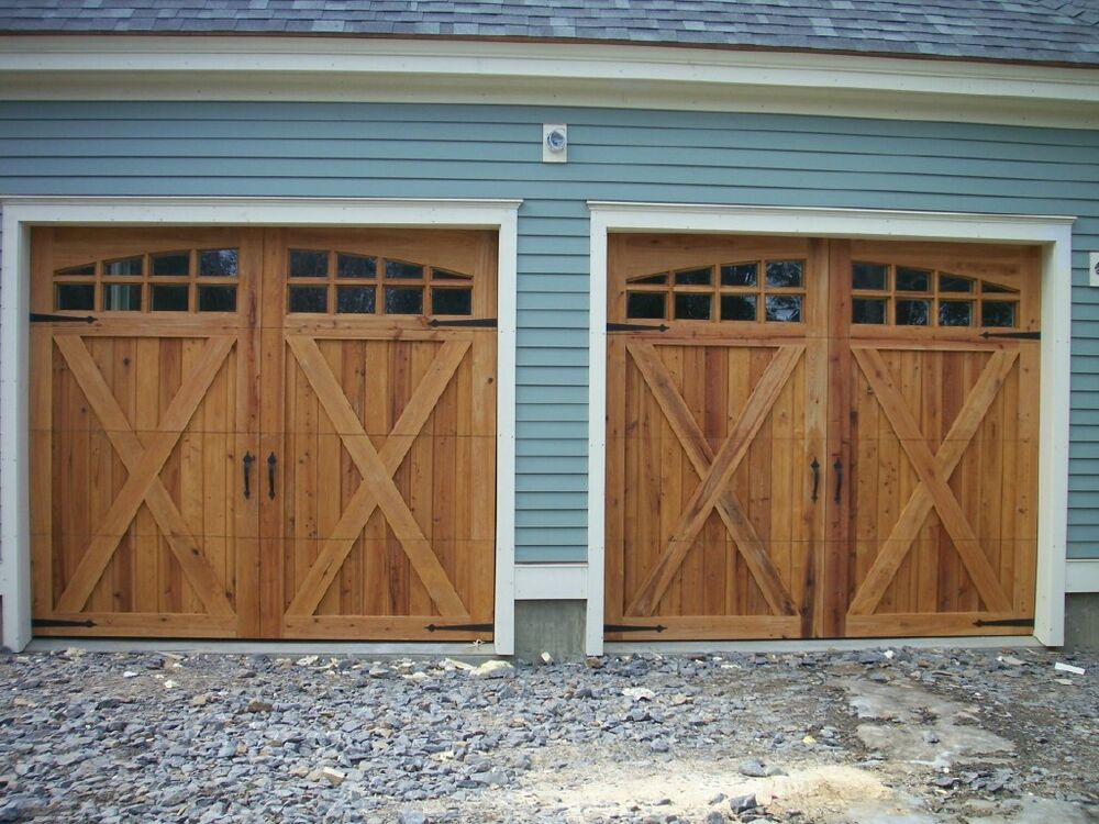 9x8 cypress sectional o h carriage house garage door ebay for 15 x 7 garage door price