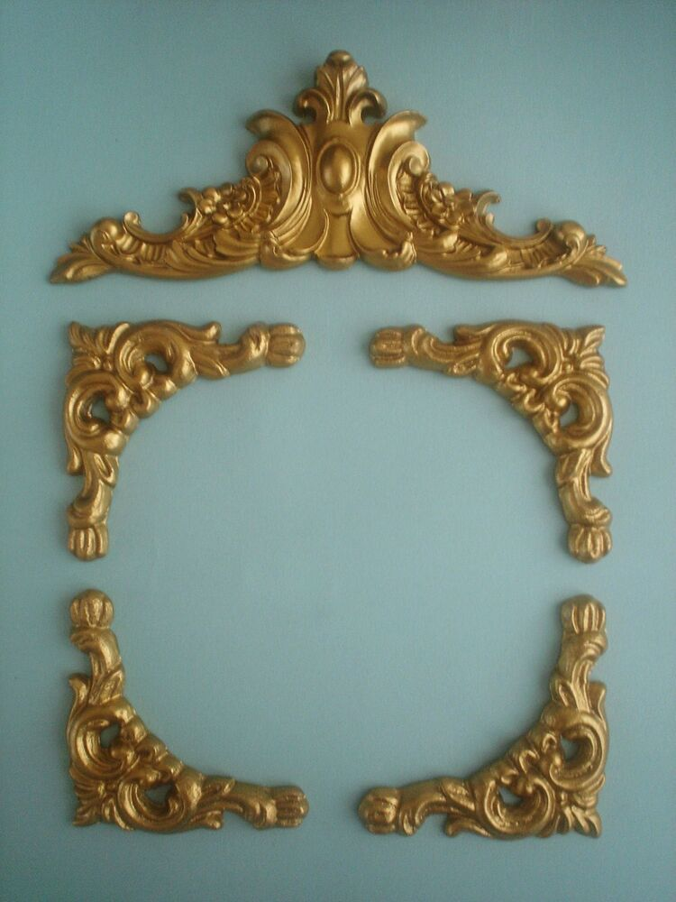 DECORATIVE SET OF ORNATE FURNITURE MOULDING PICTURE MIRROR