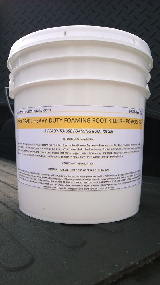 Root Killer Foaming 50lbs Sewer Septic Drain Clears Pipe