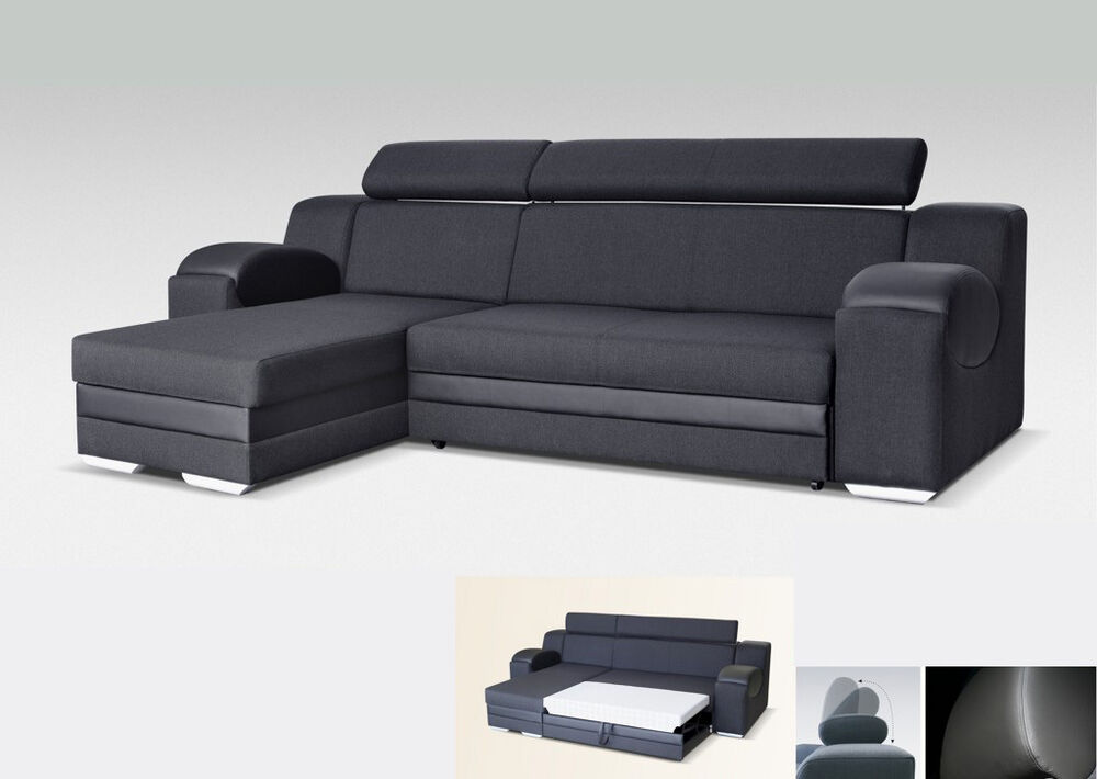 Universal corner sofa bed madrit fabric faux leather for 90 cm sofa bed