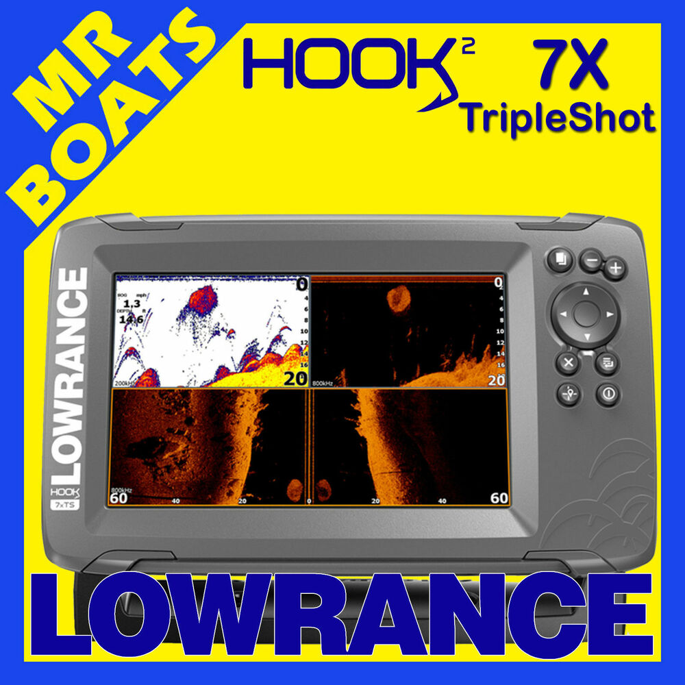 Lowrance hook 4x fishfinder cover 83 200 transom for Ebay fish finders