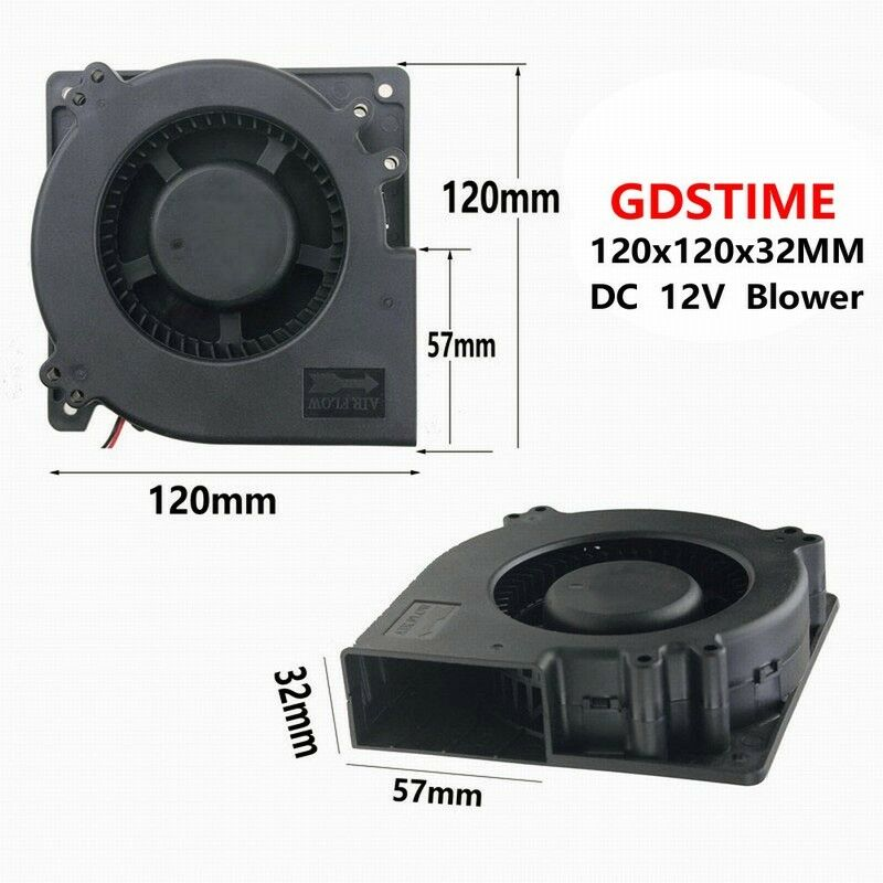 Commercial Blower Bearings : Gdt brushless ball bearing dc blower fan v mm