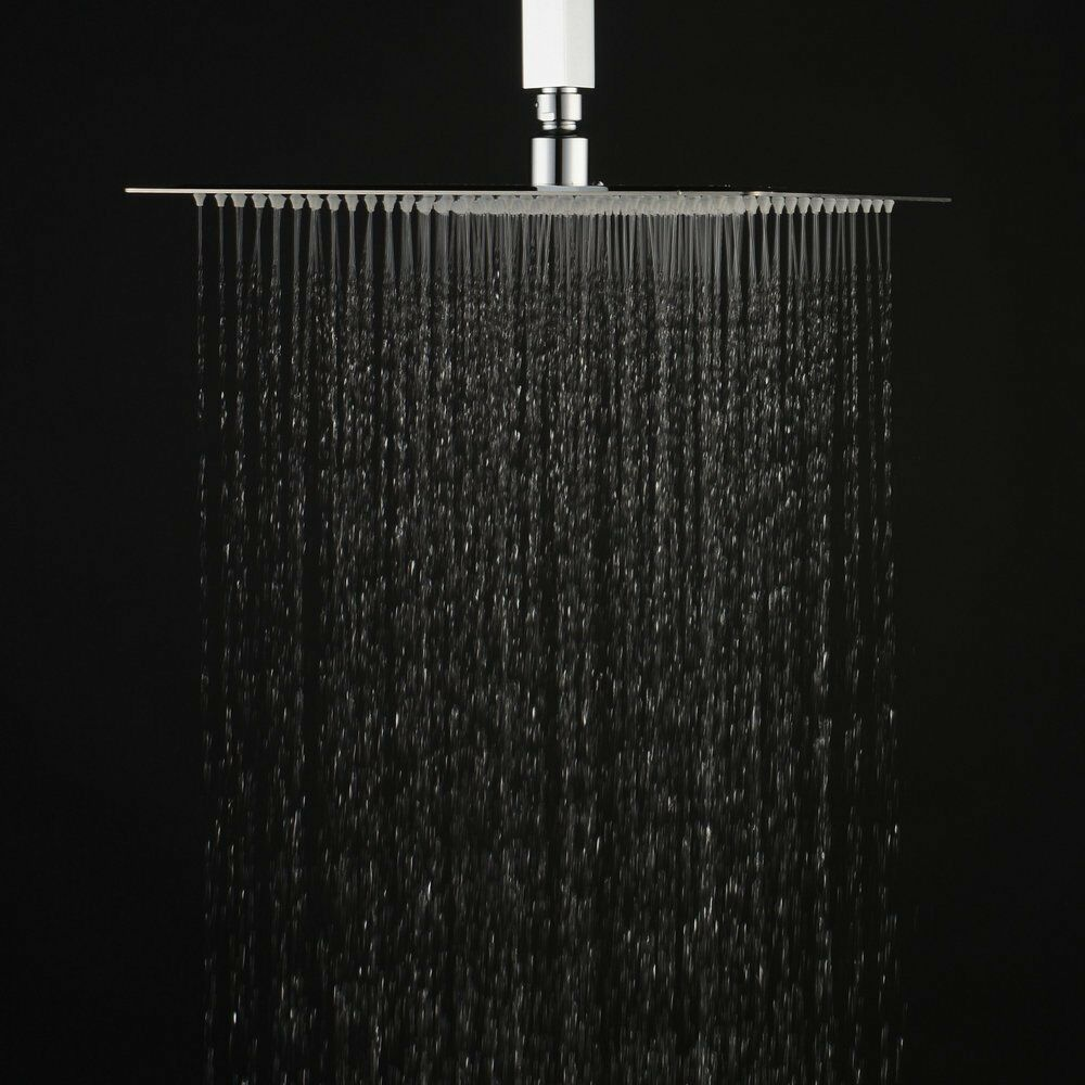 10 Inch Rainfall Shower Head Square Top Spray Brushed
