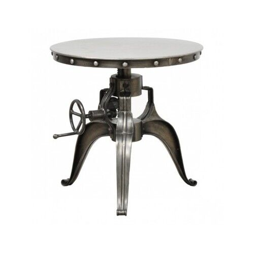 Industrial Round Table Crank Iron End Accent Adjustable  : s l1000 from www.ebay.com size 500 x 500 jpeg 14kB