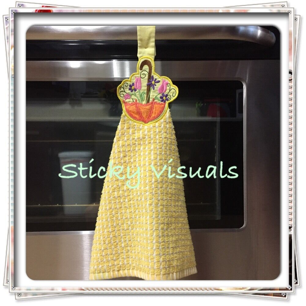 Green And White Kitchen Towels