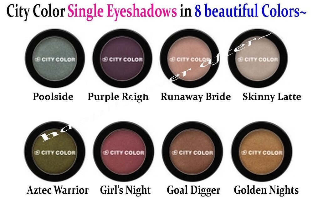 City color neutral tone eye shadow highly pigmented 8 for List of neutral colors