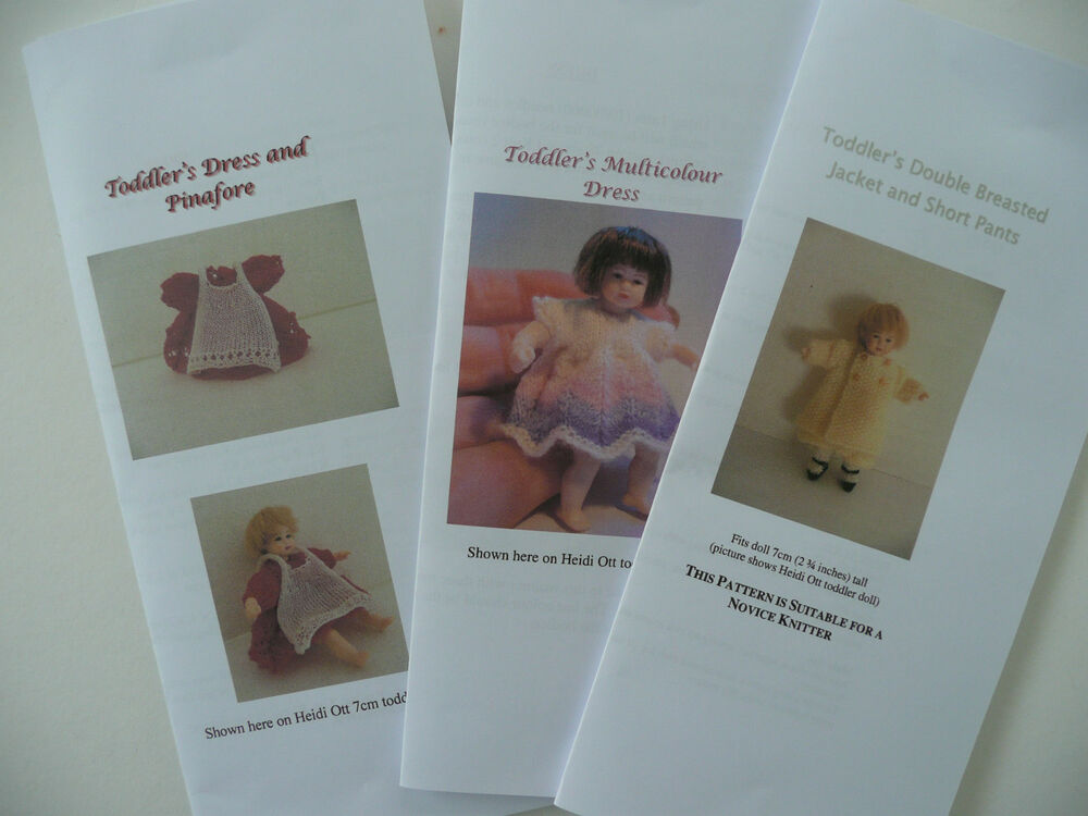 Knitting Patterns For Dollhouse Dolls : Knitting Patterns for 1/12th scale 2.75