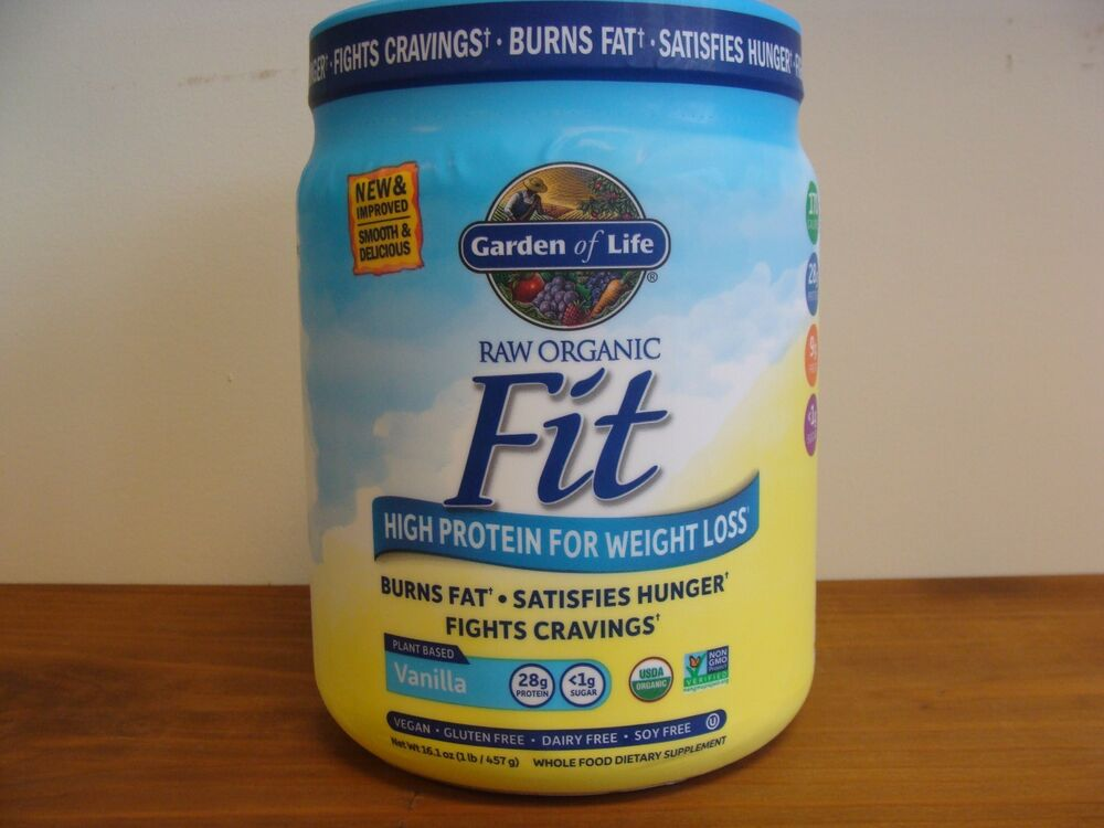 Garden Of Life Raw Fit Vanilla 16 1 Oz High Protein For Weight Loss Ebay