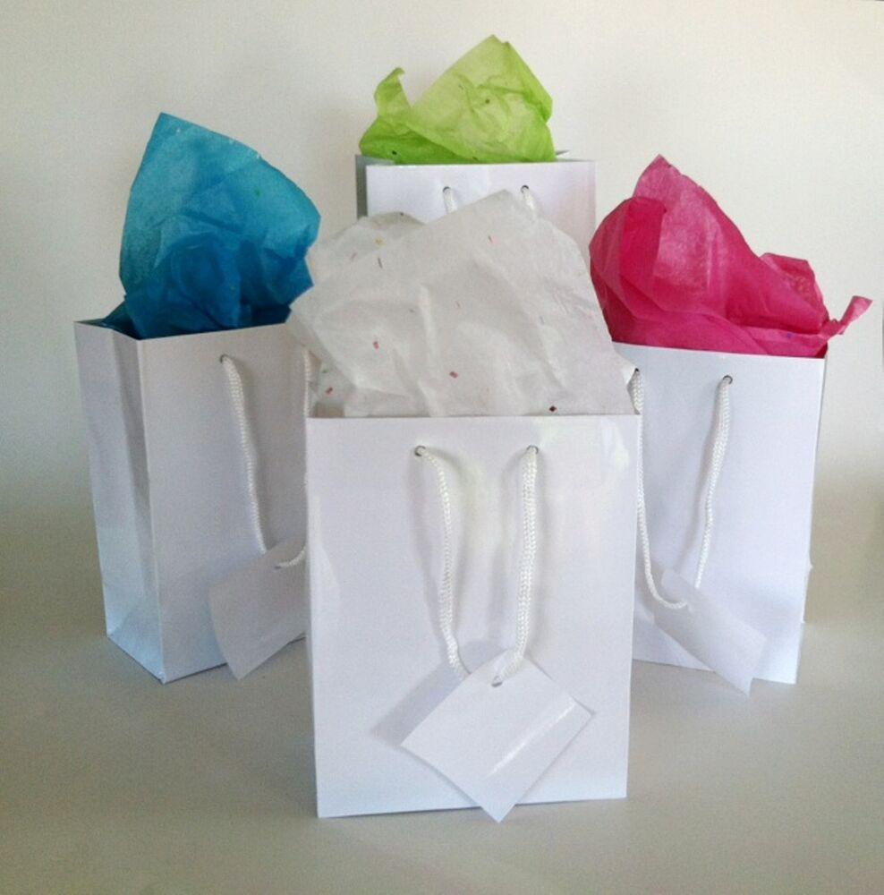 Wedding Gift Bags Wholesale: Wholesale Lot 60 Small Glossy White Gift Bags Wedding