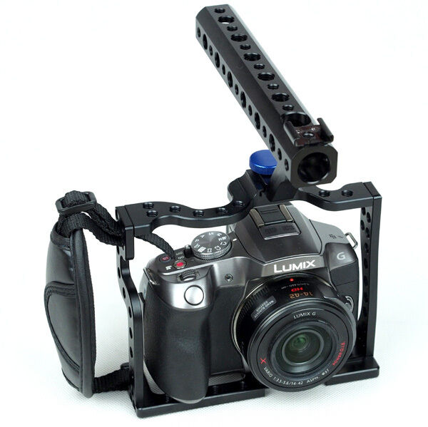 professional cage rig for panasonic dmc g6 g5 dv camera video film ebay. Black Bedroom Furniture Sets. Home Design Ideas