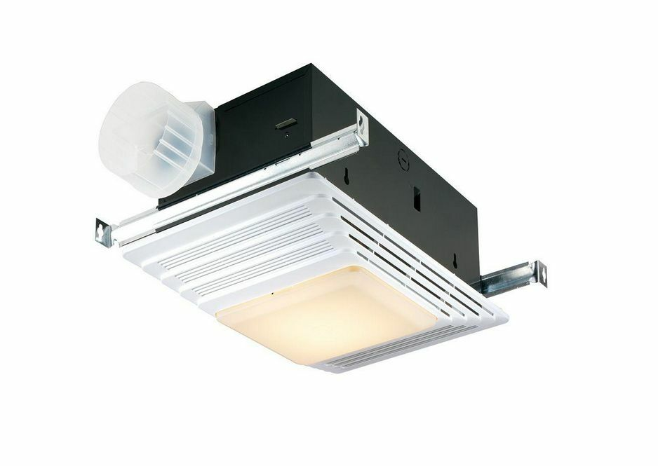 70 Cfm Bath Ceiling Exhaust Fan With Light And Heater For