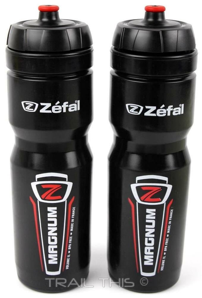 2 pack zefal magnum 33oz 1l wide mouth bike water bottles. Black Bedroom Furniture Sets. Home Design Ideas