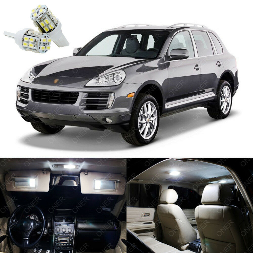 21 x xenon white led interior light package for porsche cayenne 2003 2010 ebay Porsche cayenne interior parts