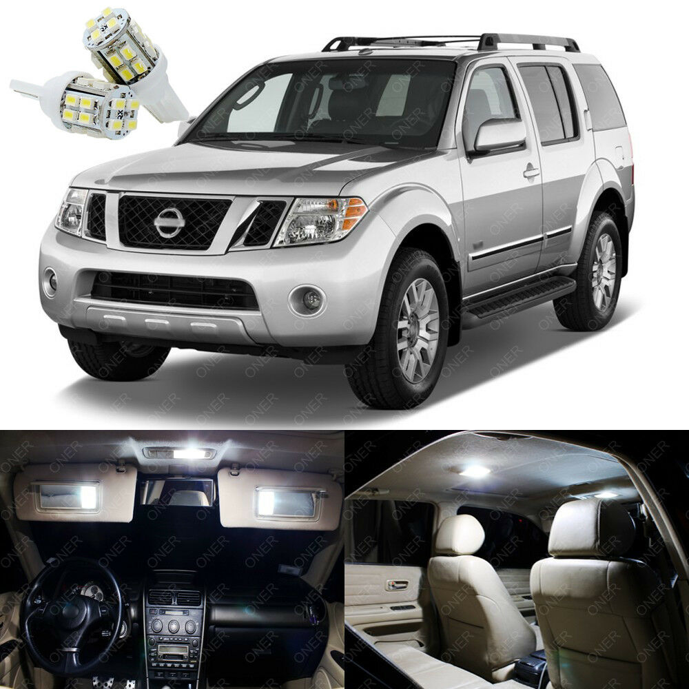 12 X Xenon White Led Interior Light Package For Nissan Pathfinder 2005 2012 Ebay