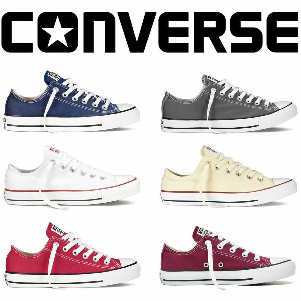 converse lo top mens womens unisex all star low tops chuck. Black Bedroom Furniture Sets. Home Design Ideas
