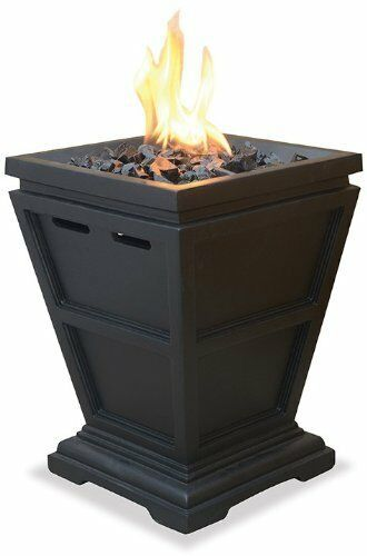 Uniflame Lp Gas Propane Outdoor Table Top Fireplace Fire