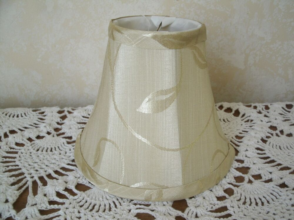 clip on chandelier lamp shade 3 x6 x5 cream beige ebay. Black Bedroom Furniture Sets. Home Design Ideas