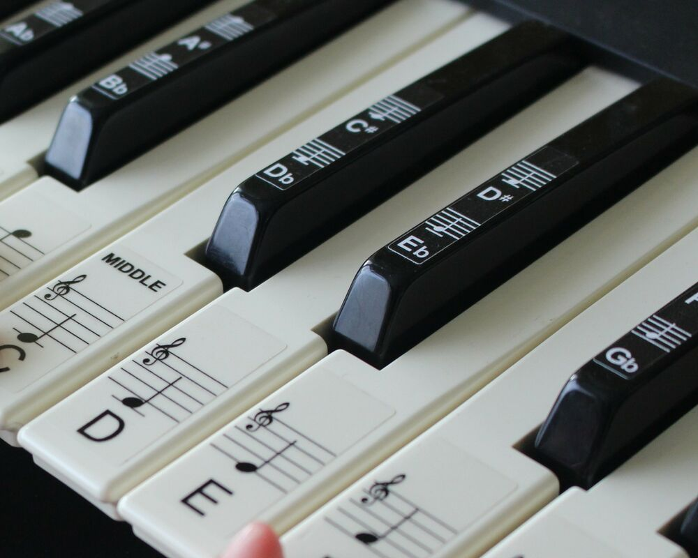 Keyboard or Piano Stickers up to 88 KEY SET for the black and white ...