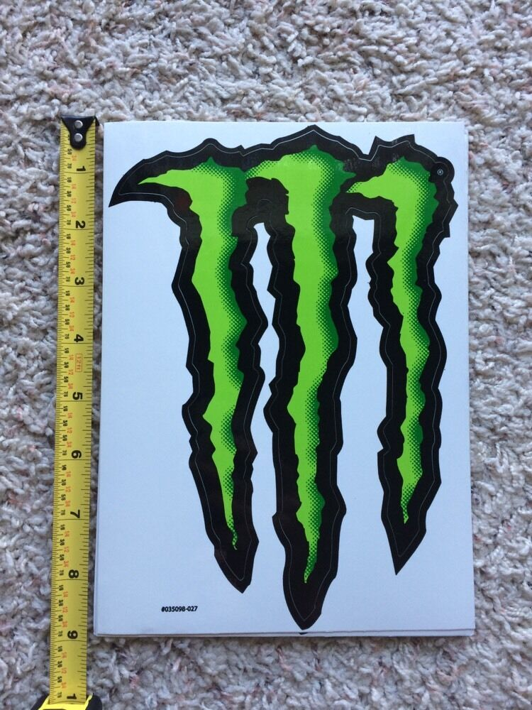 monster energy logo sticker decal sponsor sheet kit 9 by. Black Bedroom Furniture Sets. Home Design Ideas
