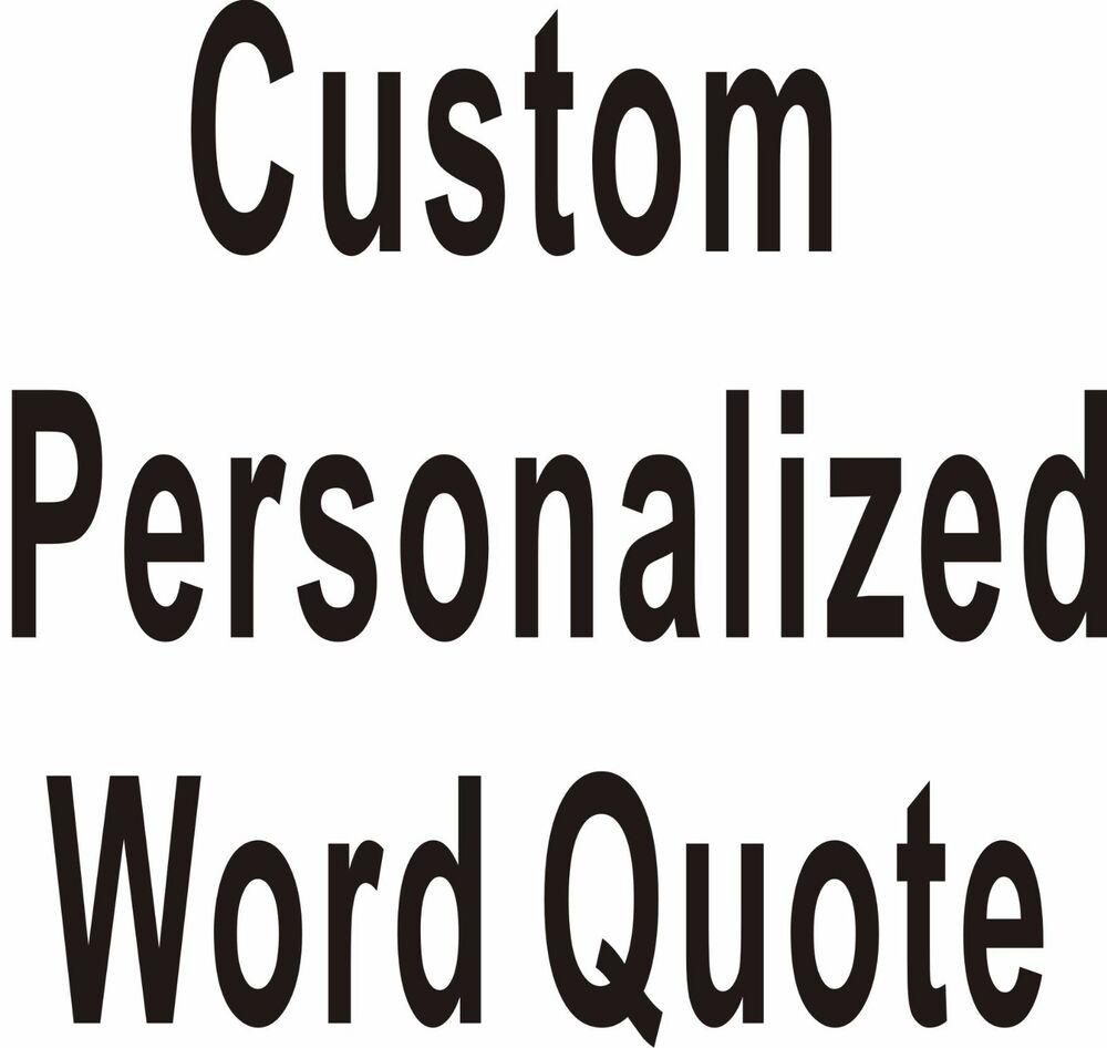 custom personalized own word quote wall stickers wall decals art home