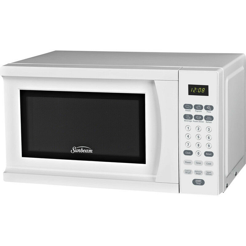 Countertop Microwave Uk : Sunbeam Digital Microwave Oven ~ White Compact Countertop Cooker w ...