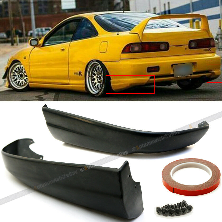 Fit 98-01 Integra Rear Bumper Lip Spoiler Cap Splitter