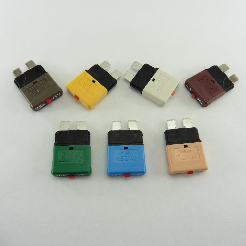 Auto Marine Resettable Fuse Circuit Breaker Blade 5a 20a