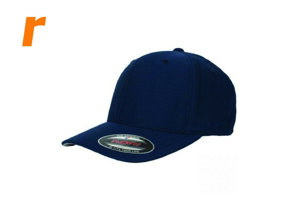 e6d26b490 Details about FLEXFIT Cool and Dry Cap Mesh Polyester Black Navy White